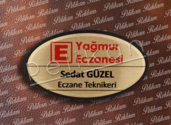 Eczane Yaka Kartı - 7cm x 4cm PL-51