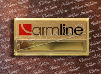 7cm x 3.5cm Altın Komple Metal Yaka Kartı PL-42